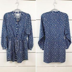 LOU & GREY Printed Long Sleeve Shirt Dress